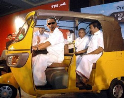 (c) Sathya - Tamil Obama in Dhoti
