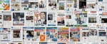 Interact with the newspapers' front pages. It's not just a mosaic of thumbnails. You can pan and zoom