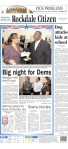 Rockdale Citizen, published in Conyers, GA -- don't you think the Obama story below the fold at least deserves a photo? A thumbnail? Lo-res? B&W even?