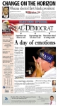The Appeal-Democrat, published in Marysville, CA - Even the photo in the advertisement at the bottom of the page is larger than that of Obama.